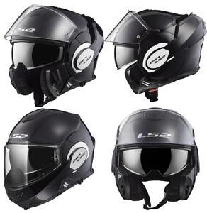 LS2-FF399-Valiant-Noir-Brillant-Modulable-avant-Basculable-Casque-Moto-Integral