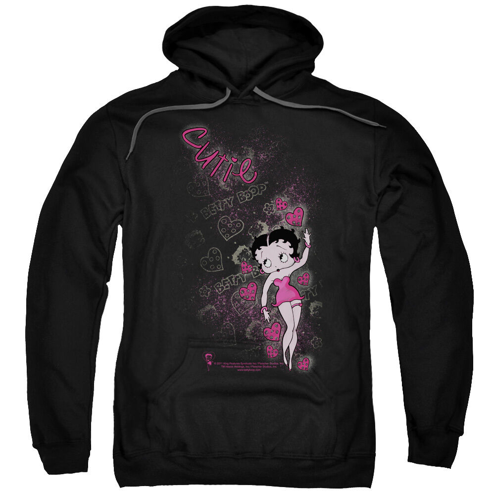 Betty Boop CUTIE with Hearts Love Licensed Sweatshirt Hoodie