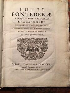 Giulio-Pontedera-Antiquitatum-latinarum-graecarumque-Padova-Manfre-1740