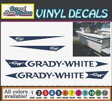 2x -Grady White Boat Die Cut Vinyl Decal Truck Window Boat Sticker Reproduction