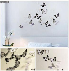18pcs-DIY-3D-Butterfly-Wall-Stickers-Art-Decal-PVC-Butterflies-Home-Decor