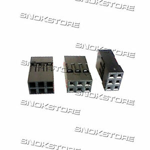 3x-Dupont-Connector-Housing-Female-2-54mm-2x3p-DIY-Pitch-Connector-dupont