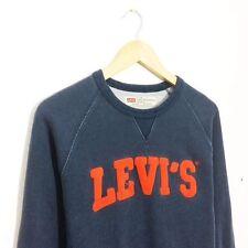 Vintage Retro 90s Levis Sweatshirt Sweater Jumper Crew Neck Pullover M Medium