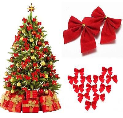 Schleifen Weihnachtsbaum.24 Stk Golden Schleifen Band Weihnachtsbaum Party Geschenk