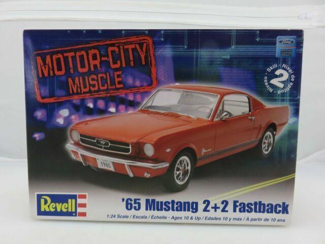 1 24 Scale Revell Motor City Muscle 65 Ford Mustang 2 2 Fastback Model Kit For Sale Online Ebay