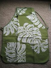 Hawaiian apron 100% poly canvas 2 pockets (stain-resistant coating,double layers