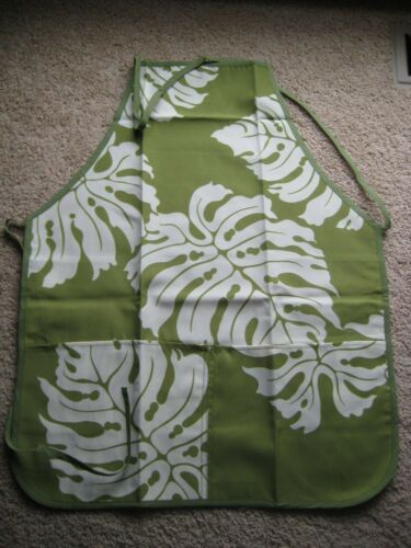stain-resistant coating,double layers Hawaiian apron 100/% poly canvas 2 pockets