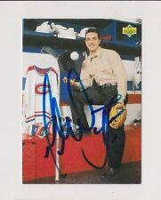 92/93 Upper Deck Gilbert Dionne Montreal Canadiens PF Autographed Hockey Card