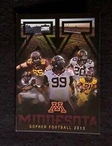 2013 University Of Minnesota Golden Gophers Football Schedule Ebay