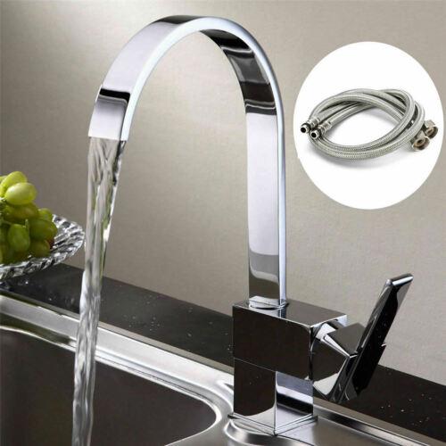 Waterfall Modern Mono Kitchen Mixer Tap Spray Chrome Hot /& Cold Sink Faucet Taps