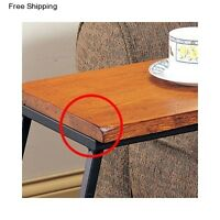 Tv Sofa Snack Tray Slide Under Couch Lap Table Wood Furniture Side Room Coffee