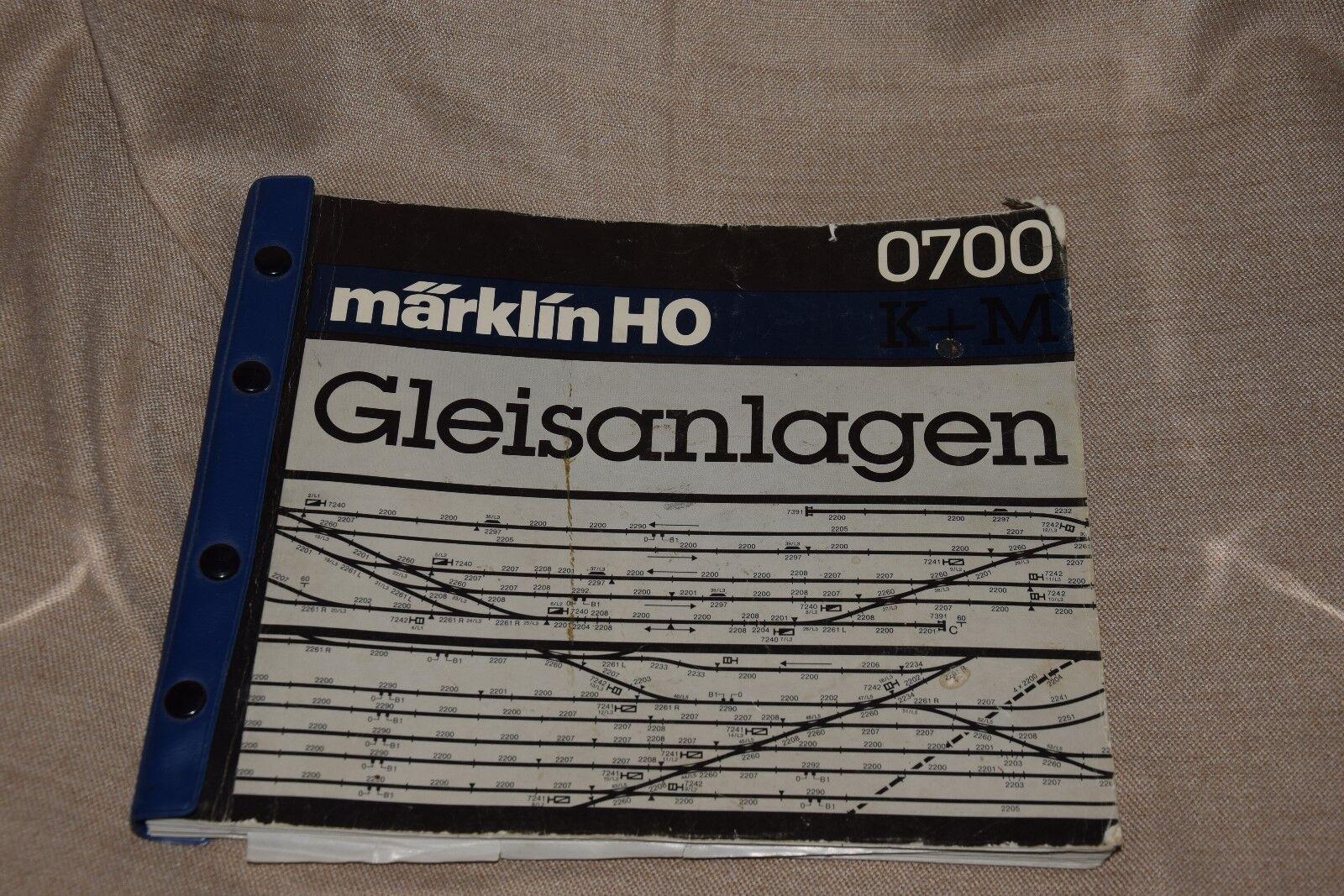 Marklin HO Gleisanlagen 0700 con schemi Tedesco  E3 ^
