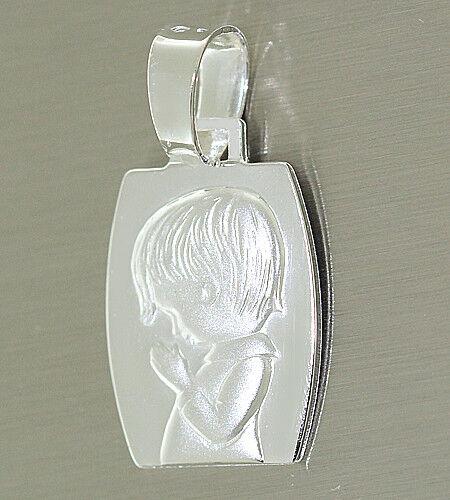 Schutzengel Anhänger Silber 925 Knabe echter Silberanhänger Engel massiv
