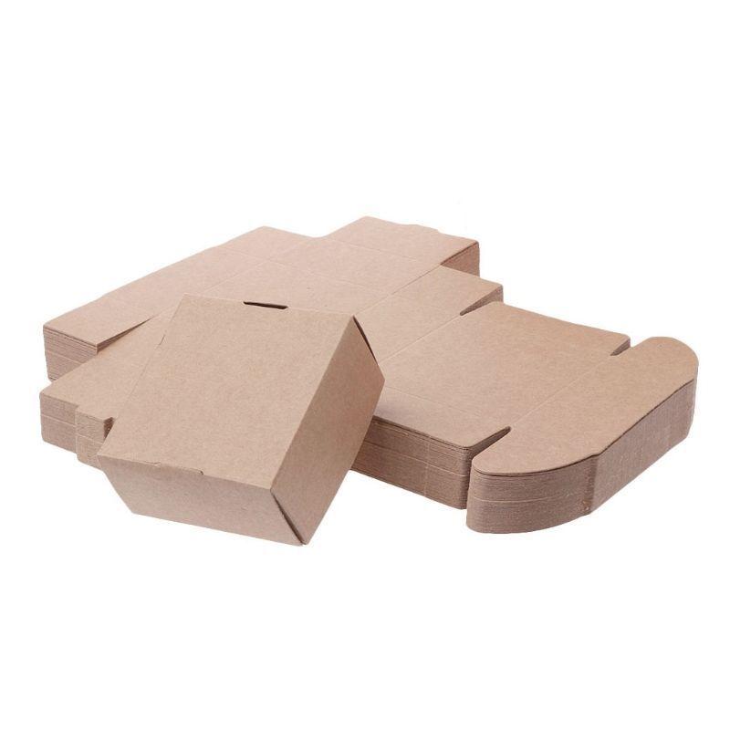 marron Kraft Paper Box pour Anniversaire Petit Cadeau De Mariage Faveurs Candy Bijoux Emballage