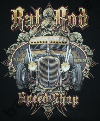 T-Shirt #618 RAT ROD SPEED SHOP OLDSCHOOL HOTROD Dragster Pin Up V8 Rockabilly