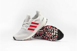 differently 6c708 6edf2 Details about New Adidas ULTRABOOST 4.0 White Varsity Red Stripe Shoes Sz 9  DB3199 Ultra Boost