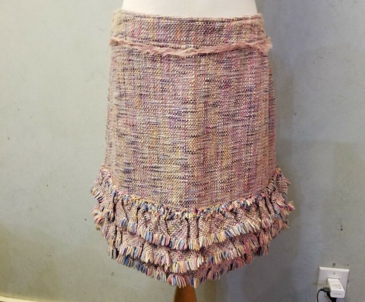 150 Max & Co tweed multi-colord skirt women's size 8 (B-69)