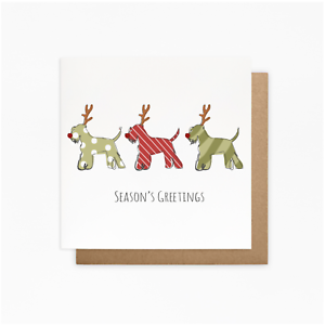 schnauzer christmas cards