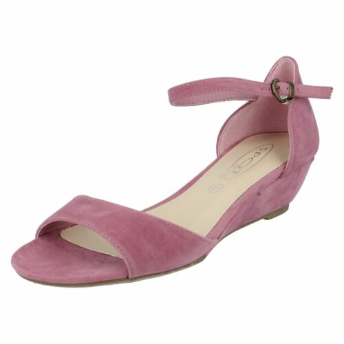 Pink F1R0276 Ladies Spot on Wedge  Sandals