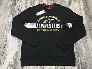 Alpinestars Bars Fleece Sweatshirt Size XL Grey Heather