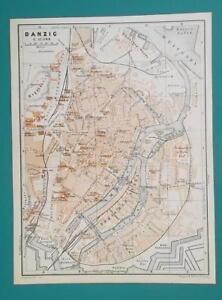 1936 Map Poland Russia German Reich Danzig Gdansk Konigsberg