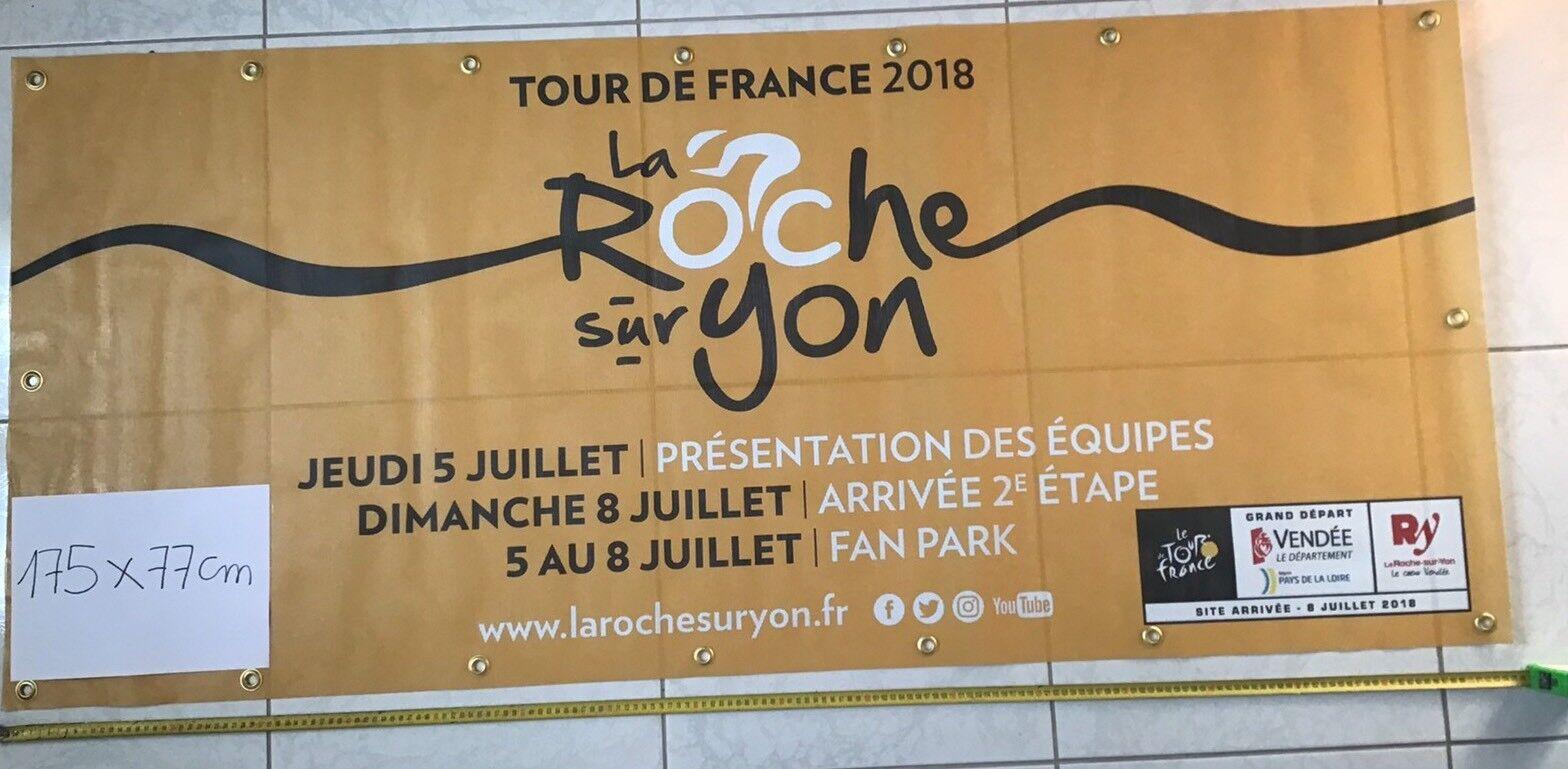 Cyclisme Grande Banderole La Roche Sur Yon Yon Yon Tour De France 2018 f452a0