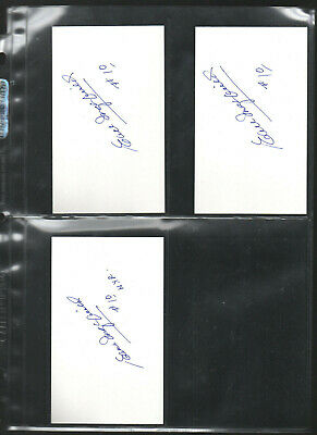 Earl Ingarfield Autograph/auto/hand-signed Index Card 3x5 Perfect In Workmanship 3 Autographs-original