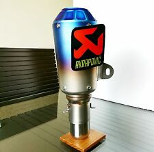 AKRAPOVIC Blue Head Steel Exhaust Silencerr For All Bikes