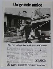 Advert Pubblicità 1979 VOLVO CAMION F12