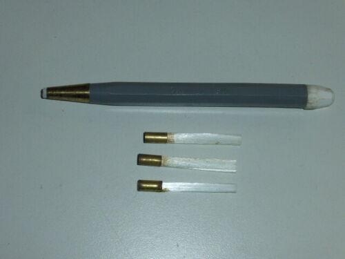 """Glasfaser Radierstift /""""Thomas 790/"""" mit 3 Ersatz-Glaspinsel"""