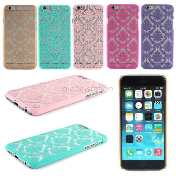 Damask Vintage Pattern Rubber Protector Hard Case Cover For Apple iPhone 5 5S 6