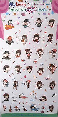 My Lovely Musician by Doma Transparent Sticker Sheet Set~KAWAII!!