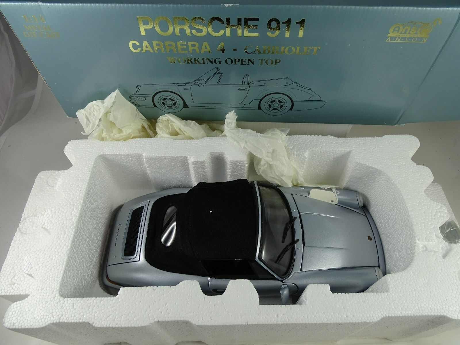 1:14 Anson-PORSCHE 911 Carrera 4-CABRIOLET working Open Top-rarità §