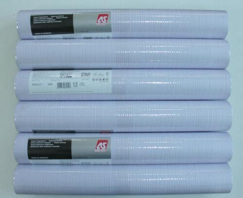 6 Rollen Papier-Prägetapete AS Creation 8753-27 flieder Streifenstruktur