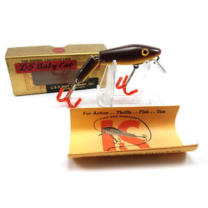 Details about L&S BAIT COMPANY BABY CAT FLOATER FISHING LURE IN ORIGINAL  BOX W/ PAMPHLET LBR