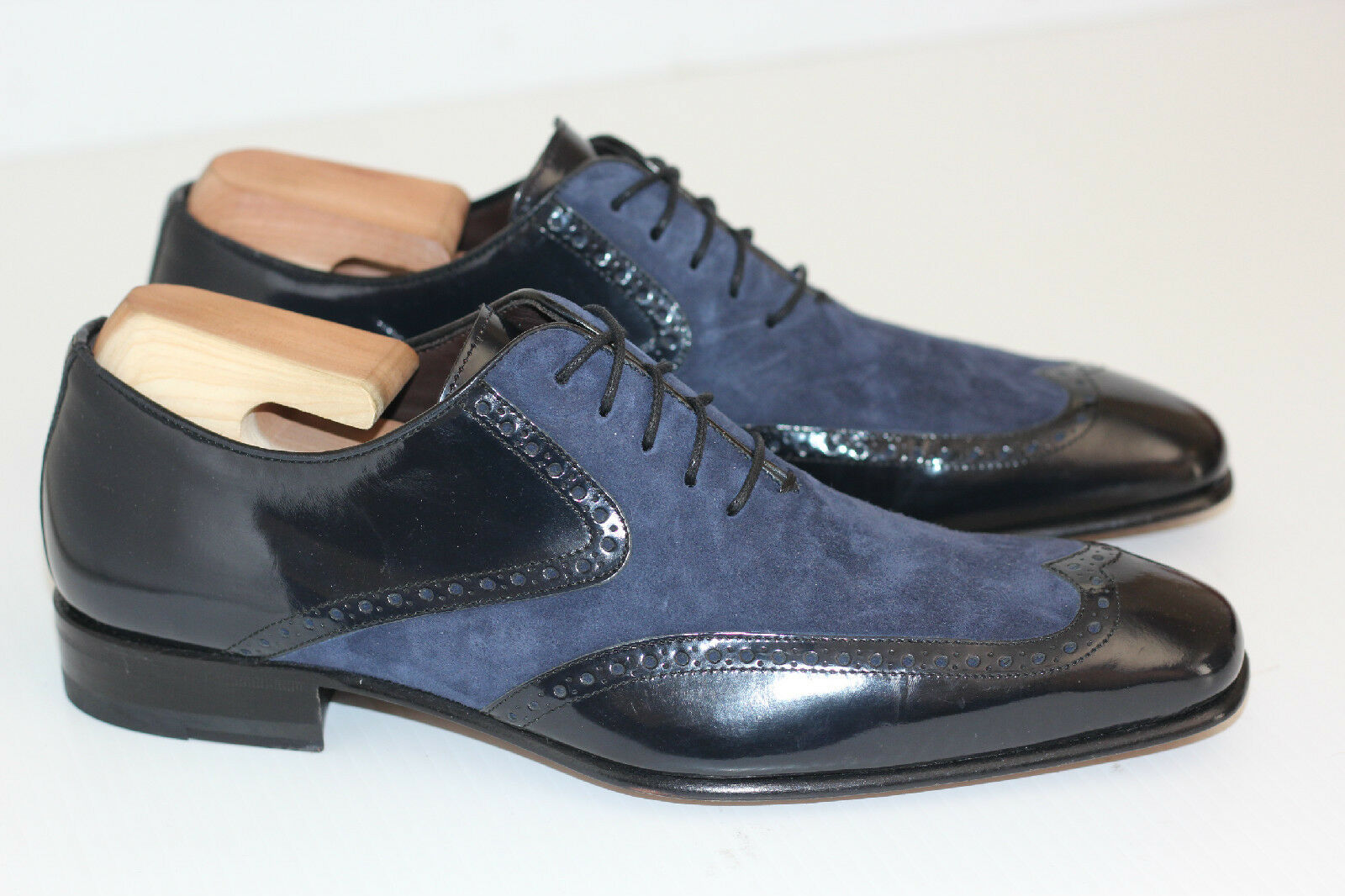 1abceae3f9e88 Mens Mezlan  Zorba  Wingtip Oxford Dress shoes - bluee - Size 7 M ...