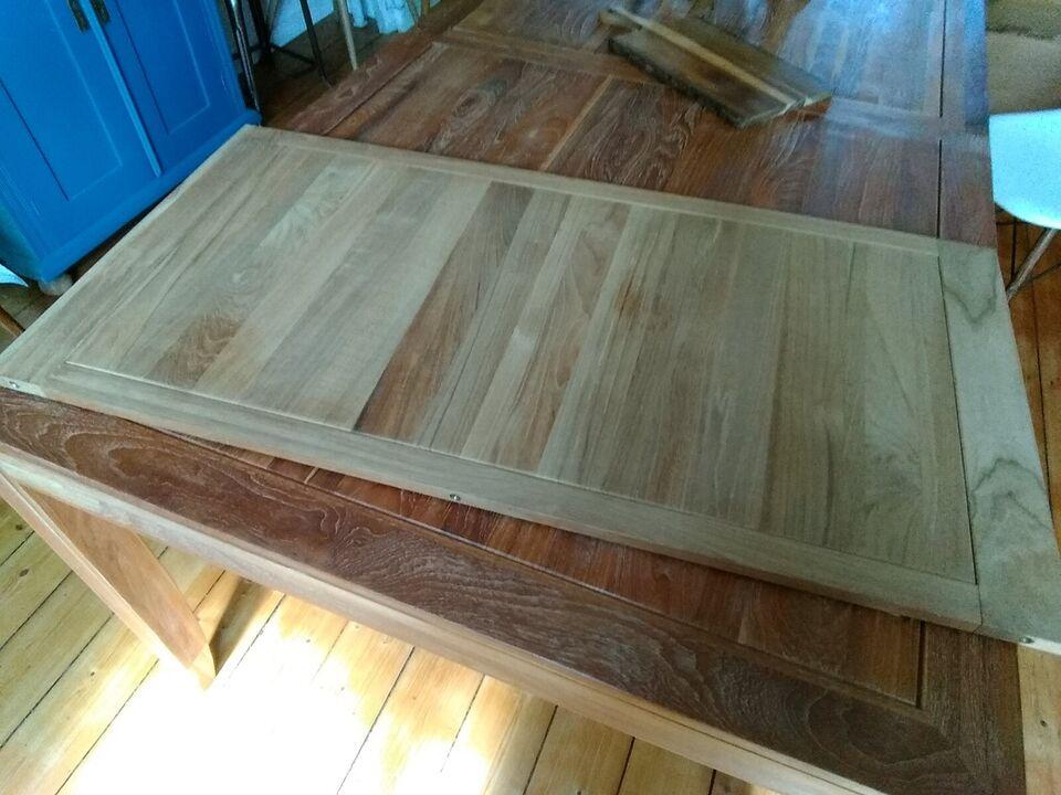 Spisebord, Teak massivt, b: 100 l: 200