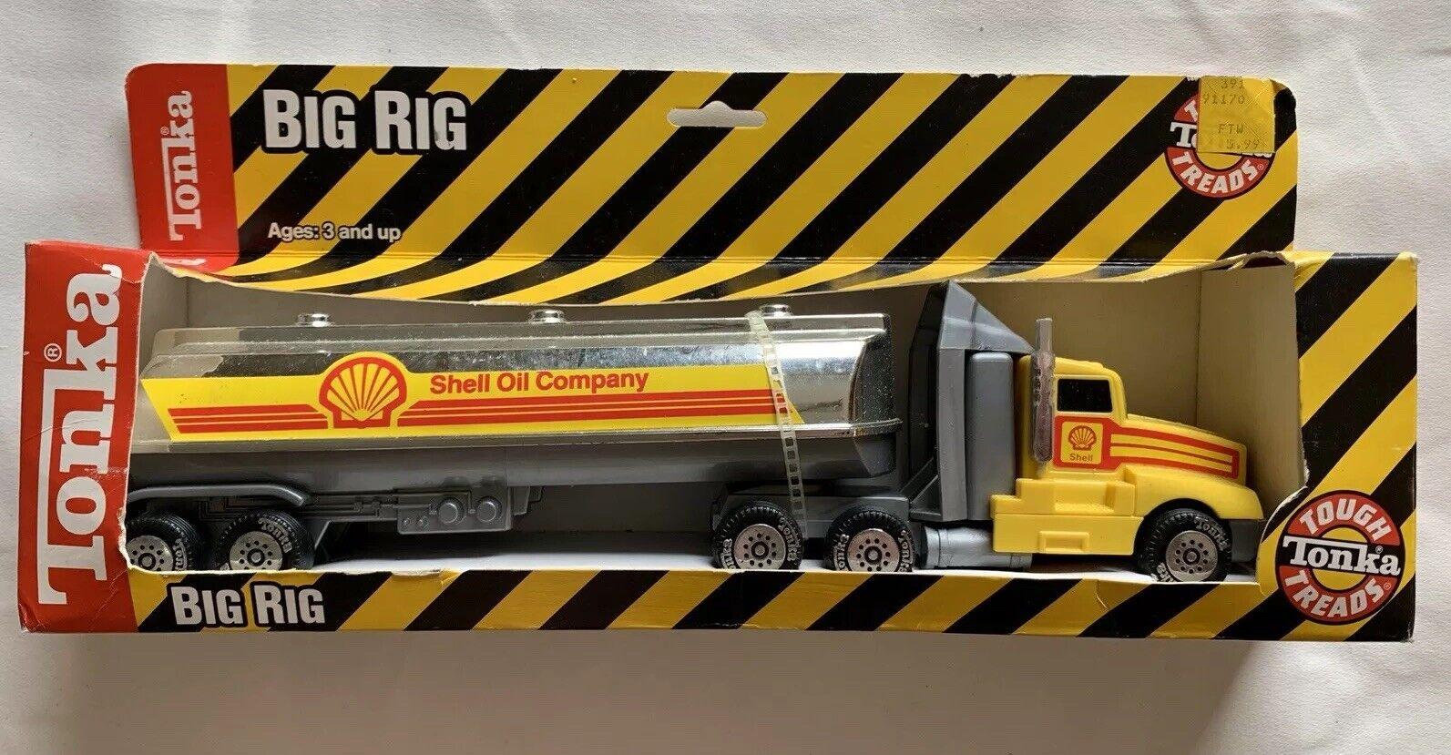 Tonka Shell Oil Company Semi Big Rig camión cisterna 1991