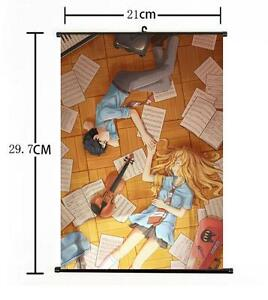 """Hot Japan Anime Your Lie in April Kaori Poster Wall Scroll Home Decor 8/""""×12/"""" 04"""