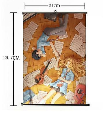 """Hot Japan Anime Your Lie in April Kaori Poster Wall Scroll Home Decor 8/""""×12/"""" 05"""