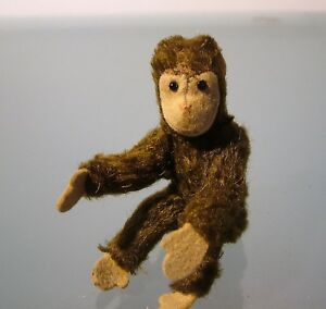 Mini-Steiff-Jocko-Monkey-Antique-con-tag-12-cm-4-72-034