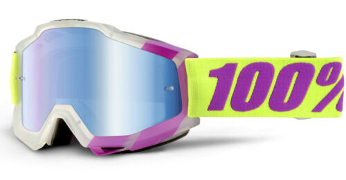 100/% ACCURI MOTOCROSS MX GOGGLES MIRROR LENS enduro bike 100 PERCENT NEW