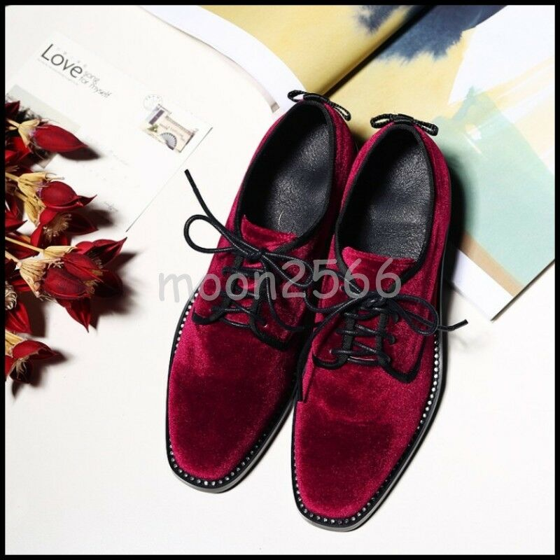 2019 donna Pleuche Glitter Lace Up Bowknot Mules Pumps Square Toe Casual scarpe