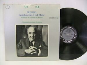 Brahms Symphony No. 3 in F Major, Bruno Walter 60's LP Columbia MS 6174