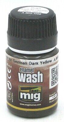 Ammo AMIG-1000 Brown Wash for German Dark Yellow [35ml] (Enamel Wash)  EFfects 8432074010005 | eBay