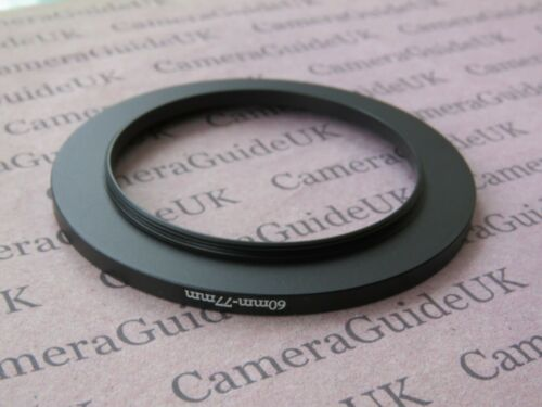 60mm to 77mm Male-Female Stepping Step Up Filter Ring Adapter 60mm-77mm