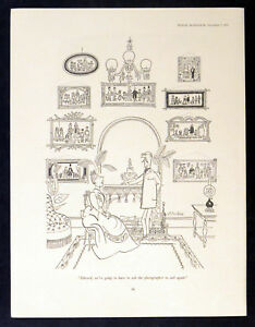 Victorian Drawing Room 1955 Michael Ffolkes Punch Cartoon Ebay