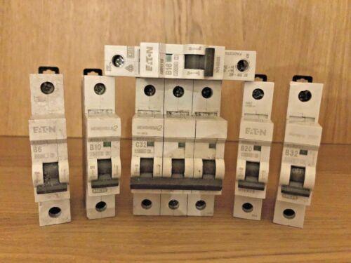 6A-32A Eaton Memshield 2 Memera 2000 MCB Single /& Triple Pole Circuit Breakers