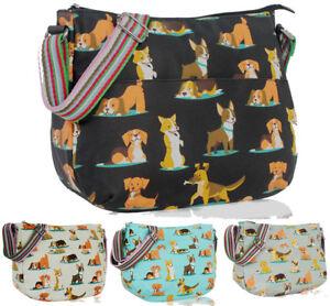 Fashion Ladies Oilcloth Sausage Dogs Cross Body Messenger Bag Women Shoulder Tot