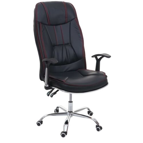B-Ware Bürostuhl MCW-F14 Kunstleder schwarz Drehstuhl 150kg belastbar